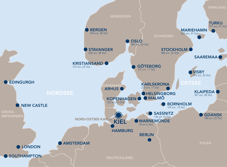 Kieler Bucht Karte.Von Kiel Aus Port Of Kiel